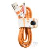 TRIBE Star Wars  Apple Iphone lightning adatkábel, 1,2m, MFI engedélyes BB-8, narancs