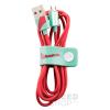 TRIBE Vespa  Apple Iphone lightning adatkábel, 1,2m, MFI engedélyes Aquamarine, piros