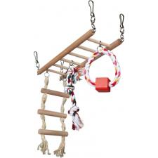 Trixie Függő Híd Fából És Kötél Hörcsögöknek 29×25×9cm kisállatfelszerelés