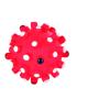 Trixie Játék gumi tüskés labda 6cm