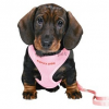TRIXIE Puppy Soft textil hám+póráz szett rózsaszín 1cm/26-34cm/2 m