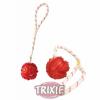 Trixie zsinóros tappancsos gumi labda 4,5 cm (TRX33481)