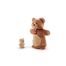 Trudi plüss báb - Medve kicsinyével plüssfigura