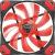 Trust GXT 762R 120x120x25mm 400-1300RPM piros LED-es ház ventilátor (22349)