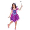 Tündérhercegnő jelmez kiegészítőkkel - lila és kék színű - 3-6 éves