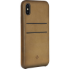 Twelve South Relaxed Leather Case with Pockets for iPhone X barna