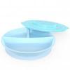 Twistshake Osztott tányér 6+m, Pasztellkék