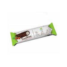TwoRoo Citrom-vanília ízű szelet mogyorós étcsokoládés30 g reform élelmiszer