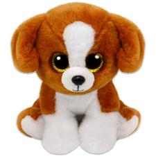 TY Beanie Babies: Snicky kutya plüssfigura - 15 cm, barna-fehér plüssfigura