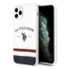 U.S. POLO ASSN. US Polo USHCN65PCSTRB iPhone 11 Pro Max fehér Trikolor Pattern Collection telefontok