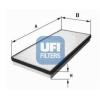 UFI Szűrő, utastér levegő UFI 53.037.00