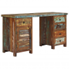 újrahasznosított tömör fa fiókos íróasztal 140 x 50 x 77 cm