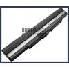 UL30 Series 4400 mAh 8 cella fekete notebook/laptop akku/akkumulátor utángyártott