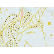 Unikornis mintás lányka muszlinos ujjatlan ruha