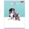 UNIPAP Friends: állatos vonalas füzet - A5, 21-32, többféle