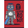 """UNIPAP Füzet, tűzött, A5, vonalas, 32 lap, 2. osztály,  """"Robot"""""""