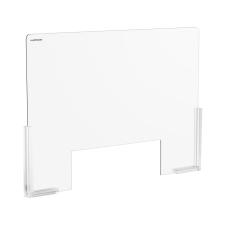 Uniprodo Akril védőfal - 95 x 65 cm - akrilüveg - 38 x 25 cm-es nyílás akrilfesték