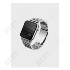 Uniq Strova Apple Watch 42/44mm fém szíj, ezüst óraszíj