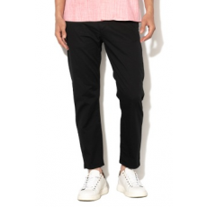 United Colors of Benetton , Slim fit chino nadrág, Fekete, 52 (4L8A55EI8-100-52)