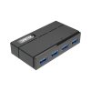 Unitek Hub 4x USB 3.0 + töltési funkció; Y-HB03001