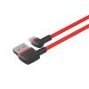 Unitek L-alakú USB - Lightning kábel; 1.0m; piros; C4047RD