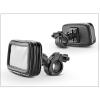 Univerzális kerékpárra/motorkerékpárra szerelhető, por- és cseppálló telefontartó - L méret - fekete