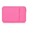 """Univerzális laptop táska, 13""""-os készülékhez, nagy oldal zseb, bújtatós, Iralan, rózsaszín"""