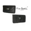 Univerzális tok, Pierre Cardin Classic vízszintes bőrtok, csatos-fűzős 4162-3TS3, fekete