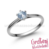 Úristen, házasodunk! E114FK - AKVAMARIN fehér arany Eljegyzési Gyűrű