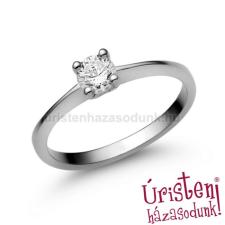 Úristen, házasodunk! E25FB35 - GYÉMÁNT:  0.35 CT (=4.5mm Ø) Eljegyzési Gyűrű gyűrű