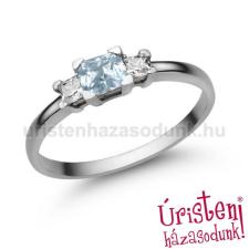 Úristen, házasodunk! E316FK_C - AKVAMARIN - CIRKÓNIA Eljegyzési gyűrű gyűrű