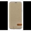 USAMS Duke Samsung G955 Galaxy S8+ oldalra nyíló hátlap tok, arany