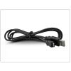 USB - micro USB töltőkábel 150 cm-es vezetékkel - fekete (csak töltésre használható)