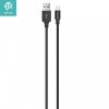 USB töltő- és adatkábel, USB Type-C, 100 cm, törésgátló, Devia Pheez, fekete, C0427 CN