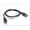 USB USB - mini USB adat- és töltőkábel 80 cm-es vezetékkel - fekete