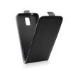 utángyártott Flip tok szilikon belsővel, Samsung J320 Galaxy J3 2016, fekete