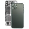 utángyártott Iphone 11 Pro hátlap / akkumulátor fedél, logóval, szürkés-zöld