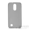 utángyártott LG K8 Ultra Slim 0.3 mm szilikon hátlap tok, fekete-átlátszó