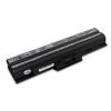 utángyártott Sony Vaio VGN-FW139EH, VGN-FW139NW fekete Laptop akkumulátor - 4400mAh