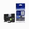 Utángyártott szalag Brother TZ-211 / TZe-211, 6mm x 8m, fekete nyomtatás / fehér alapon