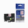 Utángyártott szalag Brother TZ-222 / TZe-222, 9mm x 8m, piros nyomtatás / fehér alapon