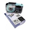 Utángyártott szalag Casio XR-18X1, 18mm x 8m fekete nyomtatás / átlátszó alapon