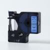 Utángyártott szalag Dymo 43616, 6mm x 7m fekete nyomtatás / kék alapon