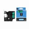 Utángyártott szalag Dymo 45809, S0720890, 19mm x 7m, fekete nyomtatás / zöld alapon