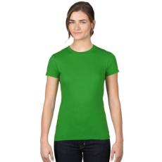 UTT AN379 WOMEN'S FASHION BASIC FITTED TEE, Green Apple