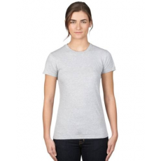 UTT AN379 WOMEN'S FASHION BASIC FITTED TEE, Heather Grey