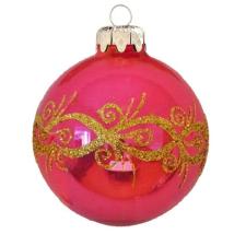Üvegkarácsonyfadíszek Barokk stílus 6cm-es karácsonyi dekoráció