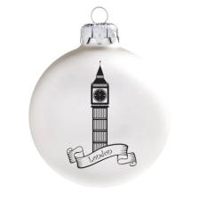 Üvegkarácsonyfadíszek London üveggömb,8 cm-es karácsonyi dekoráció