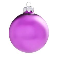 Üvegkarácsonyfadíszek Matt fuchsia gömb 6cm-es 6db karácsonyi dekoráció