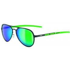 Uvex LGL 30 Polarized Black Green-Polavison Mirror Green S3